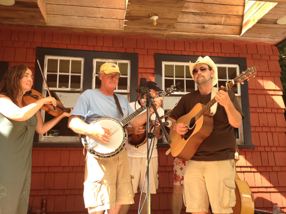 Playing for the Savary Island Land Trust, July 2012.